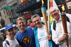 World Peace March leaders at the 2010 march with Nuclear Abolition Flame