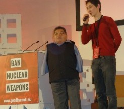 The ICAN Civil Society Forum in Vienna included Karipek Kuyukov, a second generation victim of Soviet nuclear tests. Karipbek is the ambassador for the ATOM Project