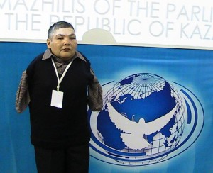 'I have no arms, but I join you to wave goodbye to nuclear weapons' Karipbek Kuyukov, second generation victim of nuclear tests, and Honorary Ambassador of the ATOM Project