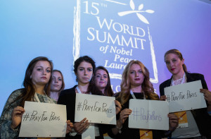 Pray for Paris - Youth action and presentation at the Nobel Peace Summit