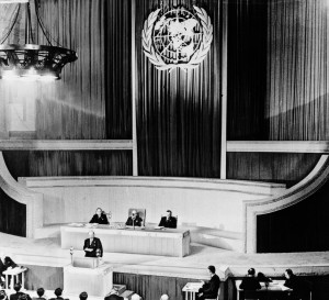 Opening session of the UN General Assembly, January 1946 in London