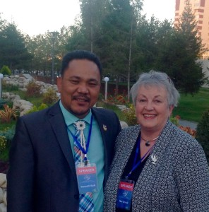 Kenneth Kedi and U.S. Senator Non Orrock at the Astana Conference