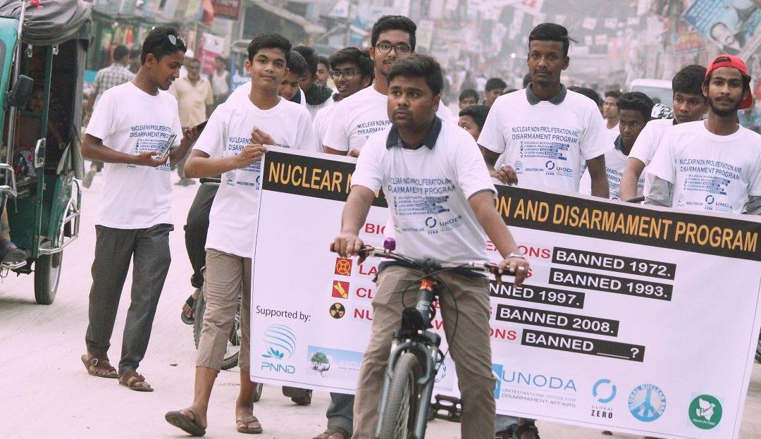 Jóvenes de Bangladesh actúan por la abolición de las armas nucleares