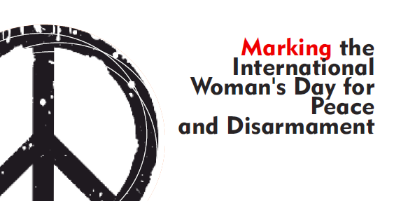 Women leading for peace and disarmament