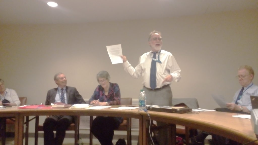 John Burroughs launching the Lawyers' Letter on Nuclear Abolition at the United Nations