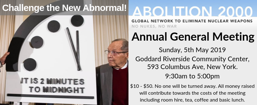 May 5th – Annual General Meeting – New York