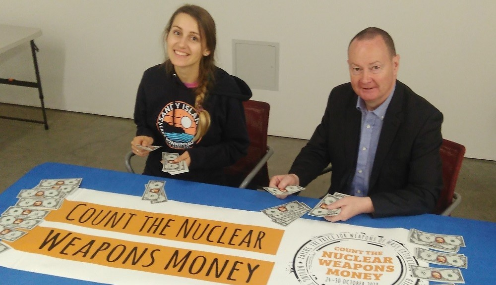 Abolition 2000 member groups help move $542 billion in mock money from nukes to the SDGs