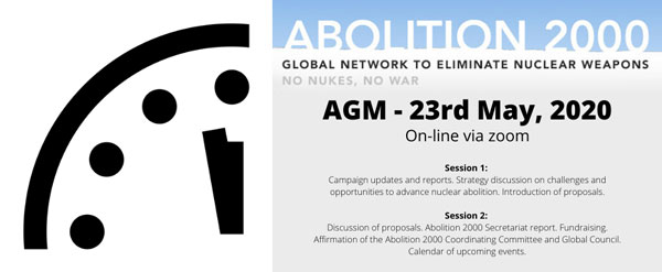 Abolition 2000 Annual General Meeting to take place on May 23, 2020 – register here